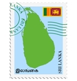 Mail to-from sri lanka vector