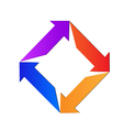 Abstract arrows logo vector