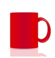 Red cup isolated on white background vector