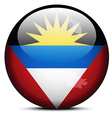 Map on flag button of antigua and barbuda vector