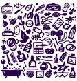 Cosmetic body care - doodles collection vector