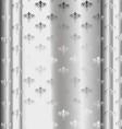 Silver luxury vintage wallpaper vector