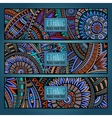 Abstract ethnic vintage pattern cards vector