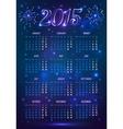 Dark blue 2015 year european calendar in magic vector