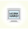 Work hard computer vector