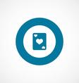 Poker bold blue border circle icon vector