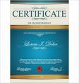 Blue certificate template vector