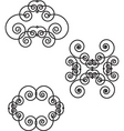 Floral filigree elements vector