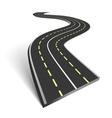 Abstract asphalt road vector
