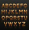 Decorative golden alphabet vector