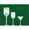 Abstract blue and green leaves three wine vector