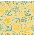 Seamless pattern with white anchors vector
