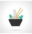 Rice bowl flat icon vector