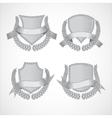 Design elements set of shields with laurel vector