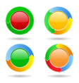 Buttons with arrows vector