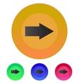 Arrow right icon vector