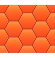 Seamless pattern with orange hexahedron puzzles vector