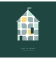 Abstract gray yellow rounded squares house vector