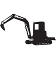 Construction digger mechanical excavator vector