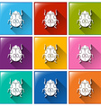 Buttons with beetles vector
