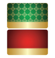 Red and green cards with golden decorations - set vector