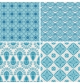 Set of four seamless pattern vector