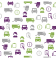 Logistics seamless pattern vector
