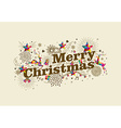 Merry christmas vintage retro greeting card vector
