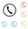 Icon of phone telephone vector