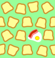 Breakfast seamless texture vector