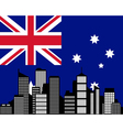 City and flag of australia vector