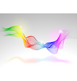 Abstract rainbow lines vector