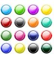 Glossy buttons isolated on white vector