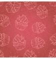 Vintage cupcakes pattern vector