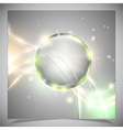 Glass glossy sphere abstract background vector