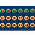 Contrasting buttons vector