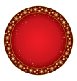 Round red background for christmas vector