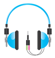 Headphones blue vector
