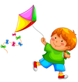 Boy with kite vector