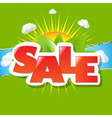 Green torn paper borders and sale poster vector