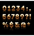 Golden digits and characters set 2 vector
