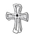 Ancient stone cross symbol vector