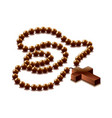 Rosary with cross isolated vector