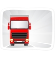 Red truck moving on the road vector