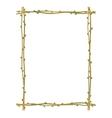 Twig sprig frame pattern background vector