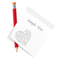 Abstract love note vector