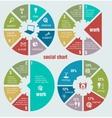 Social circular diagrams vector