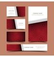 Circle business card set vector