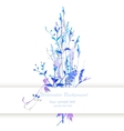 Watercolor with flowers vector
