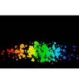 Colored circles on a black background vector